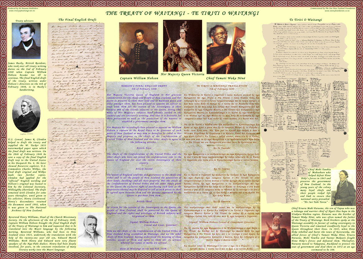 summary treaty of waitangi The treaty of waitangi overview the treaty of waitangi (known as 'te tiriti o waitangi' in te reo māori) is new zealand's founding documentsigned on february 6, 1860, the treaty was an agreement between the british crown and the indigenous māori people.